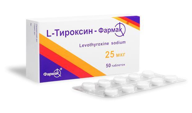 L-Thyroxine-Farmak 25 mkg